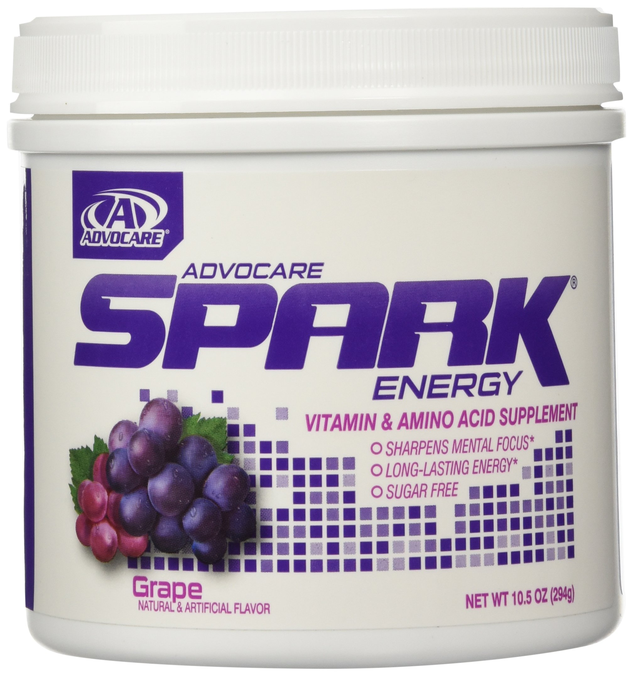 AdvoCare Spark Energy Drink (Grape) Canister 10.5 oz