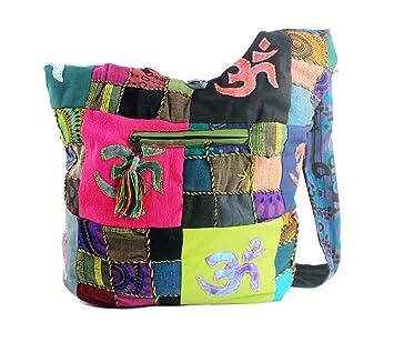 Modas Bagdag Bolso Artesanal de Hombro para Mujer Colores Variados 31x32cm: Amazon.es: Equipaje
