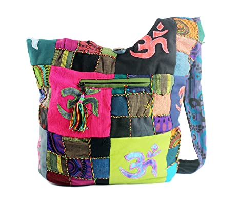 c97f3915c41 Modas Bagdag Bolso Artesanal de Hombro para Mujer Colores Variados 31x32cm