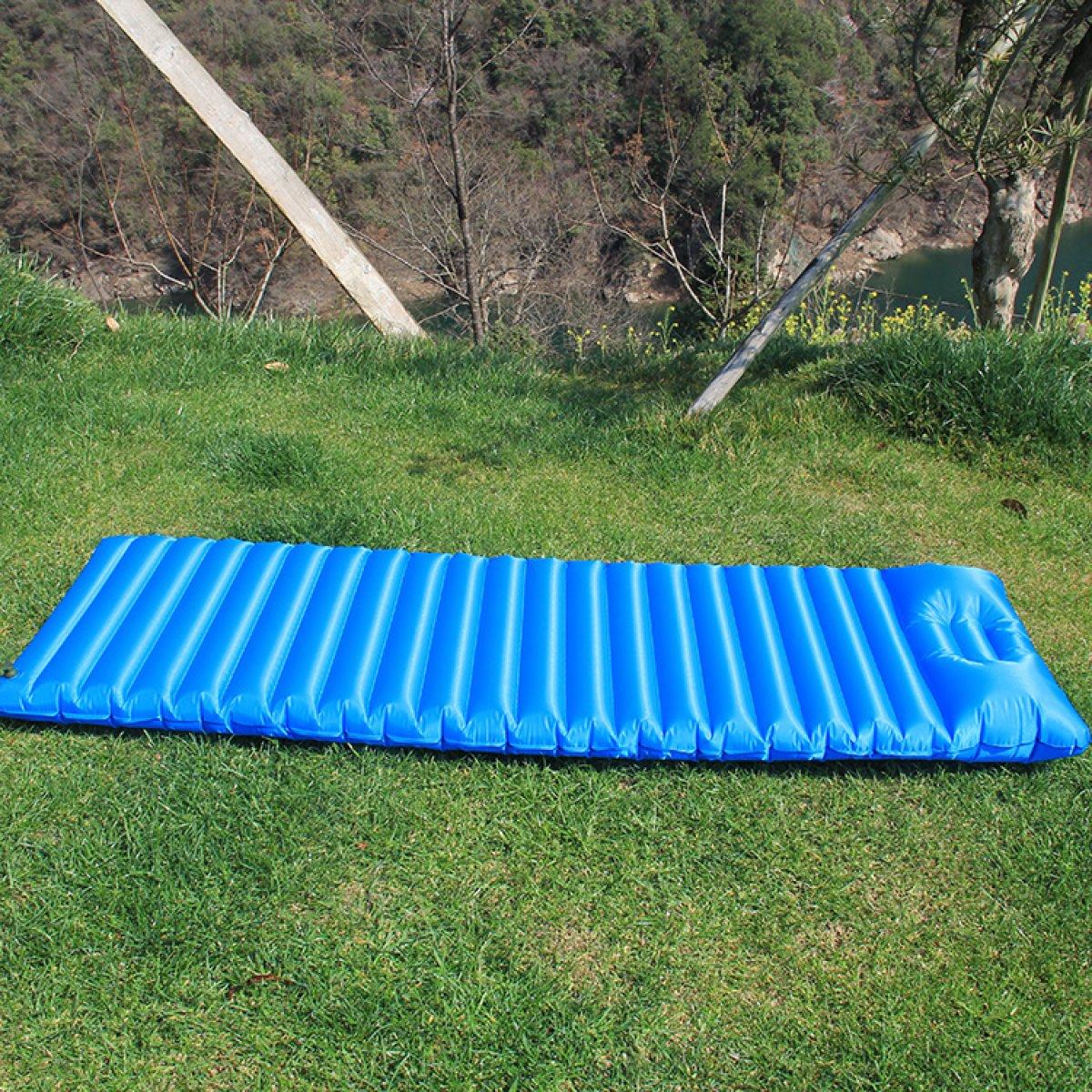 Automatische Aufblasbare Auflage Im Freien Ultra-helles Einzelnes Aufblasbares Bett