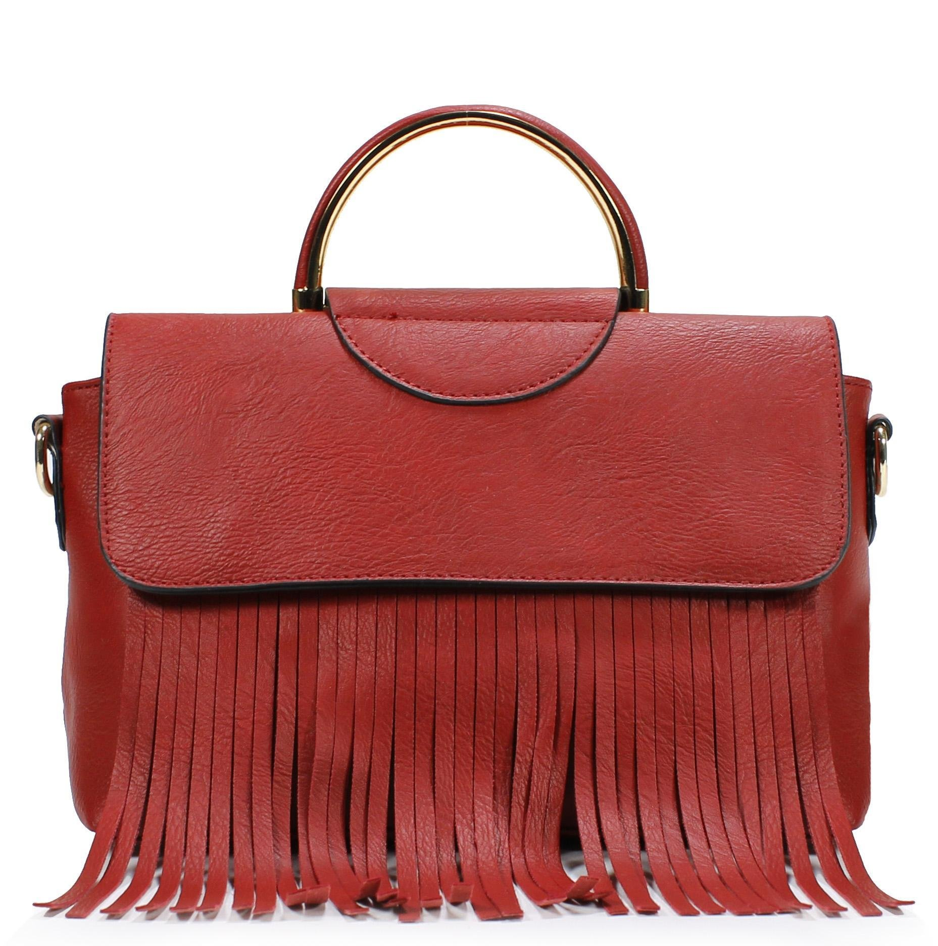 Scarleton Stylish Amerind Style Satchel H185810 - Red