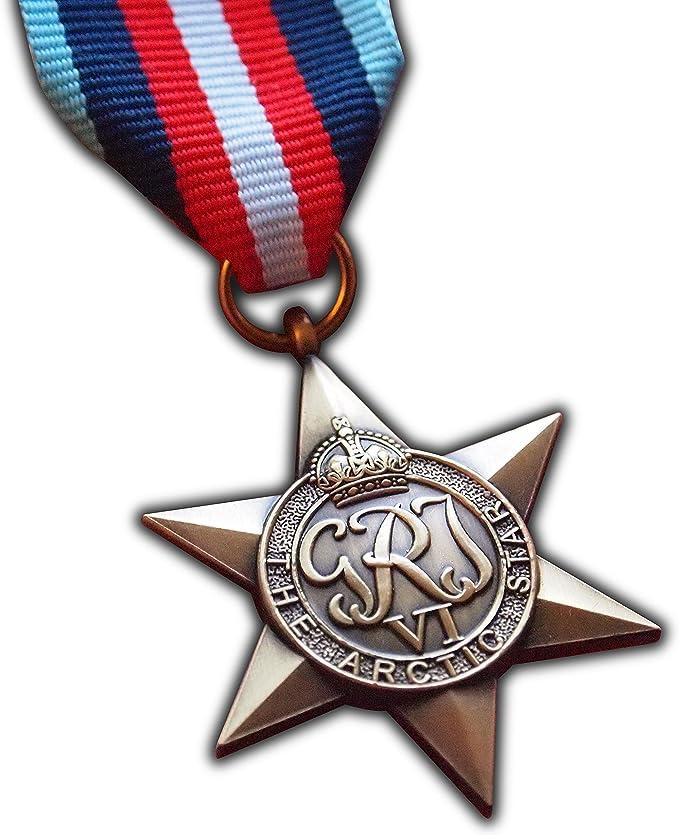 Trikoty El ártico Star Militar Medalla WW2 Commonwealth Premio para   ejército Militar británica   Azul Marino     réplica de RAF Convoy George Vi ártico Operaciones: Amazon.es: Deportes y aire libre