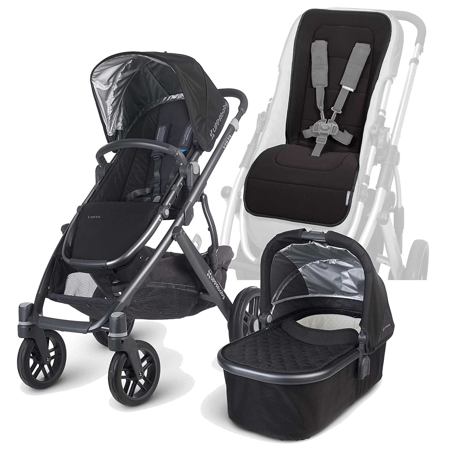 Amazon UPPAbaby 2015 Vista Stroller with Bassinet and Seat Liner Jake Baby