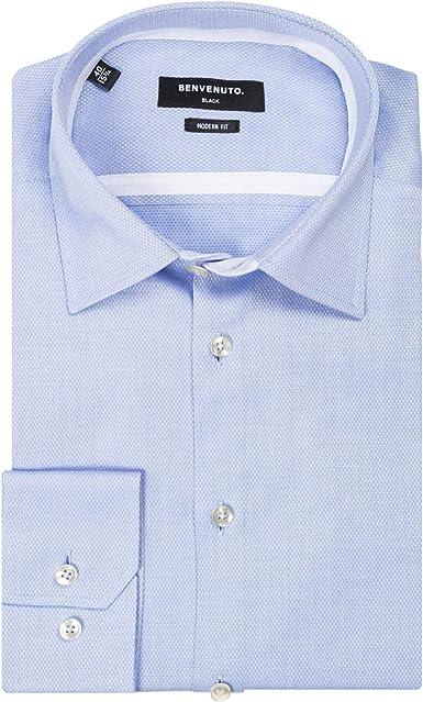 Benvenuto 27747-69980 NOS - Camisa moderna, color azul claro ...