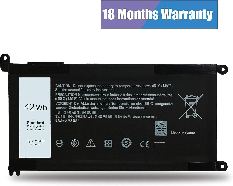WDX0R Battery T2JX4 for Dell Inspiron 13-5000 13-7000 15-5000 15-7000 17-5000 P32E Series:17 5765/13 5368 5378 5379 7368 7378/14 7460/15 5538 5566 5567 5568 5570 5578 7560 7570 7569 5770 7579