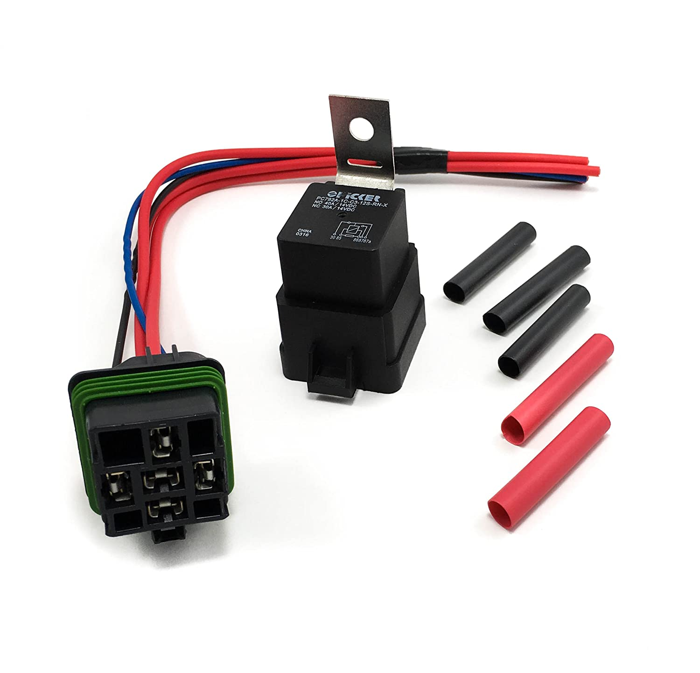 50/30 Amp Weatherproof Automotive Relay and Socket Kit Ovatium
