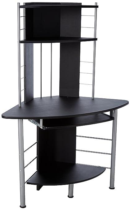 tower computer desk. HOMCOM 45\u0026quot; Arch Tower Corner Computer Desk - Black M