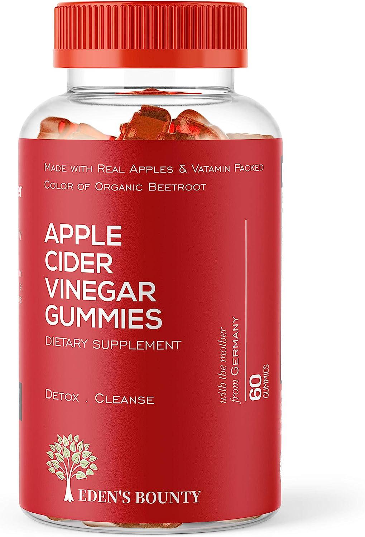 Apple Cider Vinegar Gummies for Building Immunity, Detox and Weight Loss (1 Pack, 60 Capsules, Organic and Vegan)…