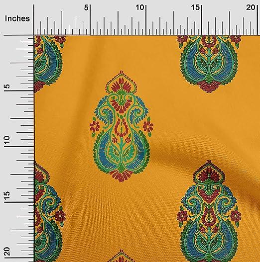 Diseño Floral poli algodón Paisley en 3 COLORES se vende por metro
