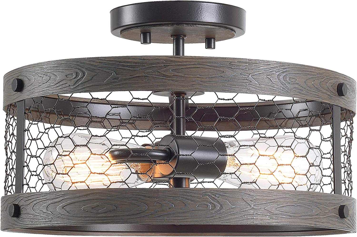Kenroy Home 94042ORB Cozy Fixtures, Wood and Oil Rubbed Bronze