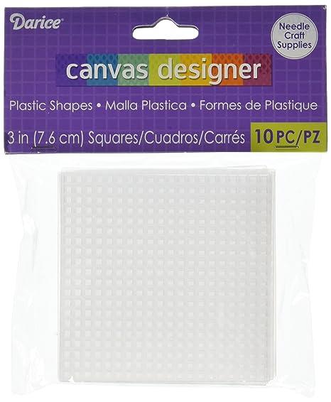 Darice Square Plastic Canvas, Clear, 16 x 12 x 1.5 cm: Amazon.co.uk ...