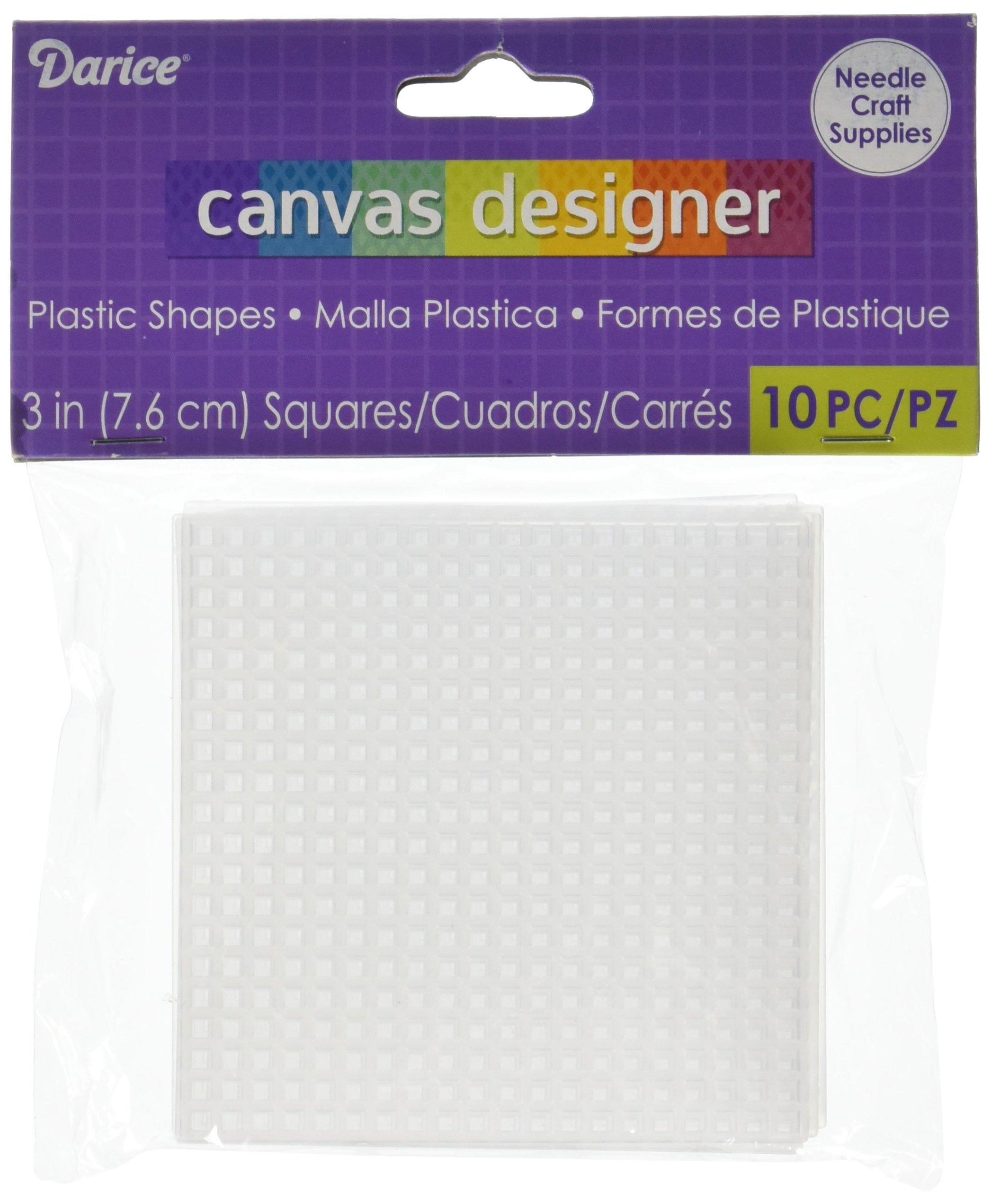 3-20pc Darice Plastic Canvas No 7 Heart