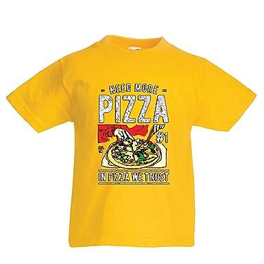Lepni Me Kinder Jungen Mädchen T Shirt In Der Pizza