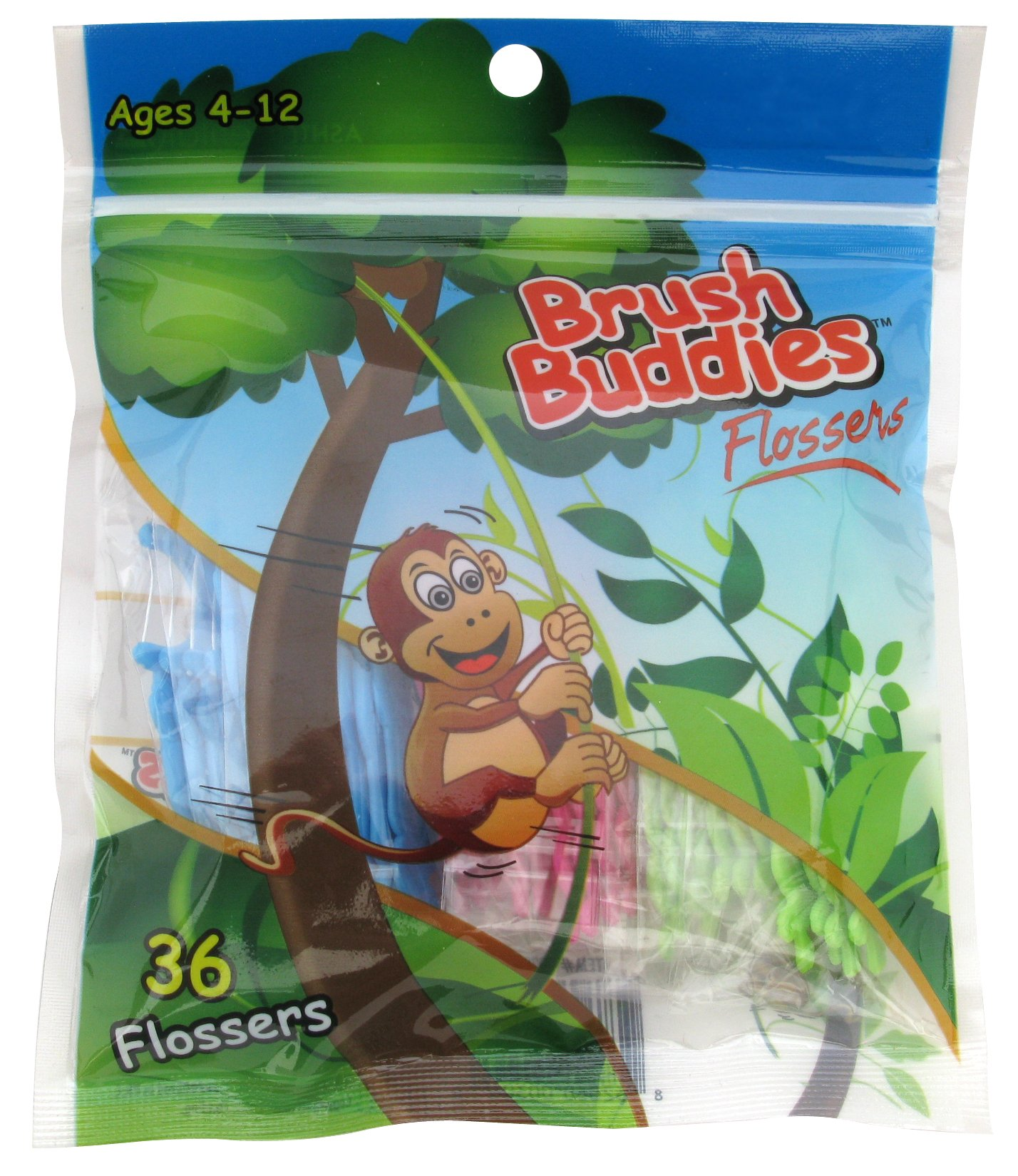 Brush Buddies 00306-72 Monkey Flossers (Pack of 72) by Brush Buddies (Image #1)
