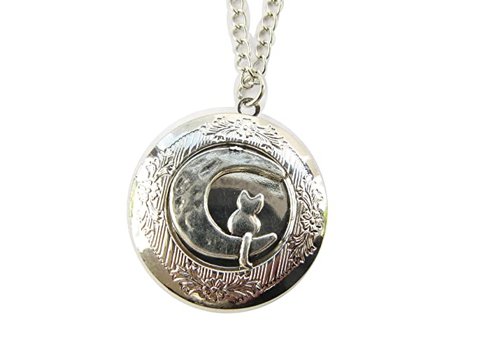 cat forever no pin locket memorial side a by heart lovely pet my necklace plated silver luv in lockets personalized but longer dog