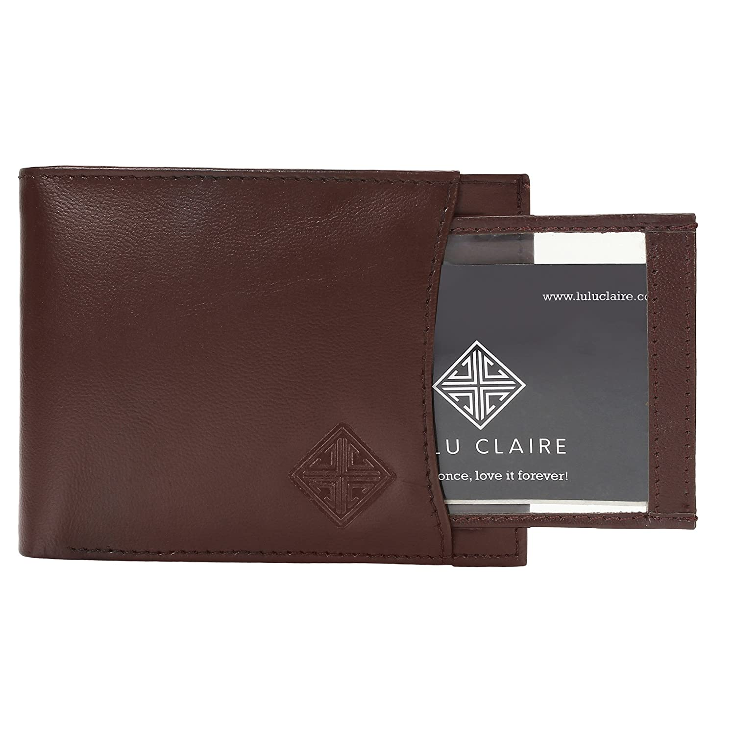 f4b6b40f1c62a7 Lulu Claire Leather Brown Men's Wallet (MENW4C): Amazon.in: Bags, Wallets &  Luggage