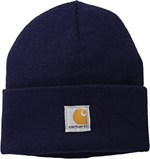 product image for Carhartt Boys' And Girls' Acrylic Watch Hat, Peacoat, Youth