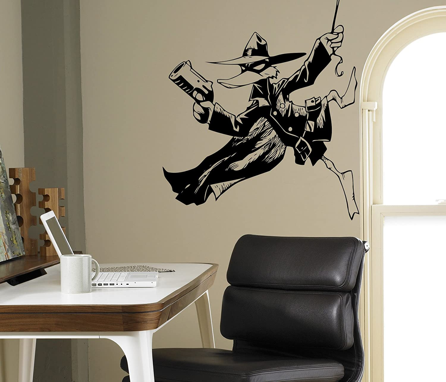 Disney characters wall decal darkwing duck vinyl sticker duck superhero home interior living room window decals housewares design door stickers wall