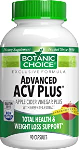 Botanic Choice Advanced Apple Cider Vinegar Plus, 90 Capsules – Daily Supplement for Weight Loss Support