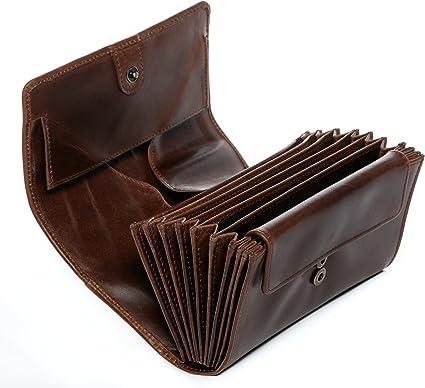 SID & VAIN® Borsa per soldi e marsupio per camerieri vera pelle vintage ABERDEEN Wallet portafoglio cameriere borsellino Portamonete uomo donna cuoio