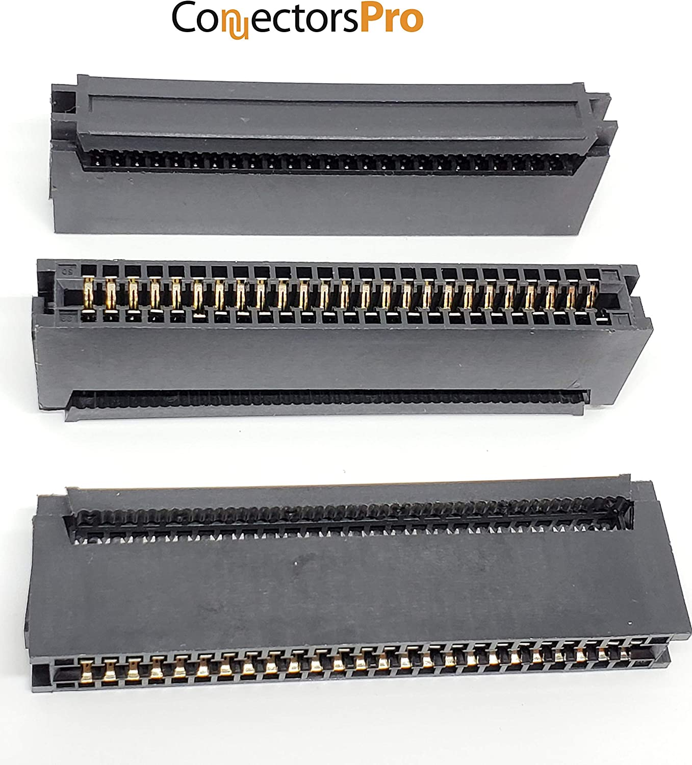 CE50 5-Pack PC Accessories 50 Pins IDC 2.54mm Card Edge Connector for 1.27mm Flat Ribbon Cable