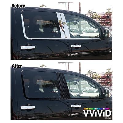 VViViD No-More Chrome Black Vinyl Overlay Wrap Black-Out Strips Roll DIY (Carbon Fiber Black (40ft x 2 Inch Bulk Roll)): Automotive