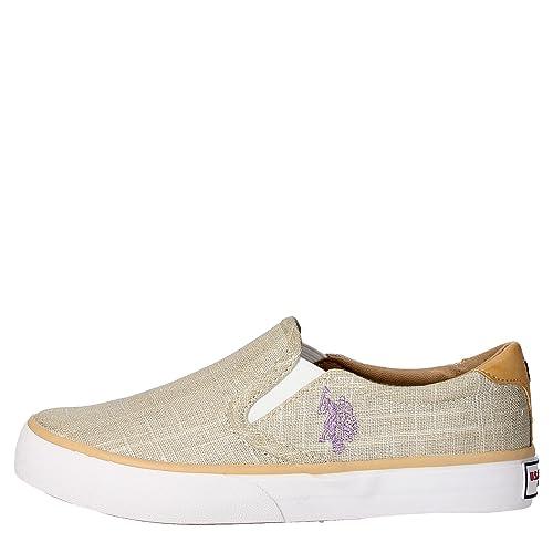 Zapatillas U.S. Polo Assn Nova-lame Plata: Amazon.es: Zapatos y ...