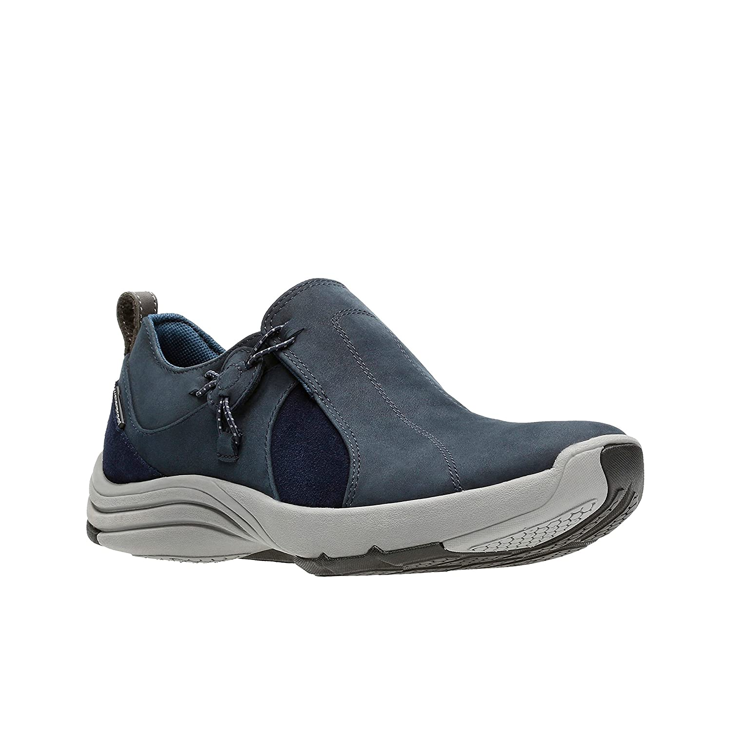 CLARKS Womens Wave River Waterproof Sneaker B071JDCKMF 7 B(M) US|Navy