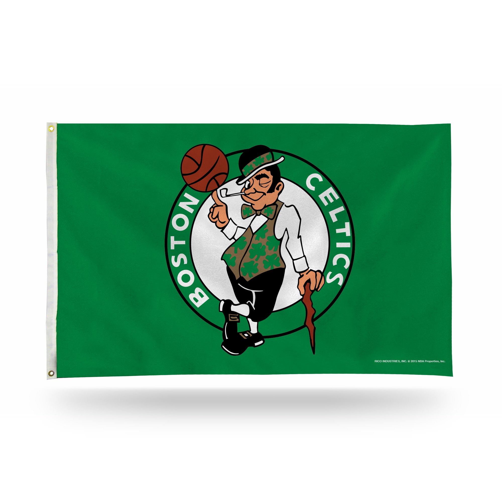 Rico Industries NBA Boston Celtics 3-Foot by 5-Foot Single Sided Banner Flag with Grommets