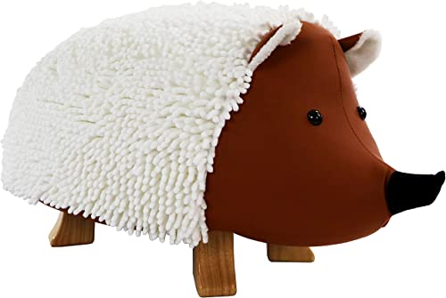 Critter Sitters 16-in Seat Height Plush Hedgehog Animal Shape Ottoman