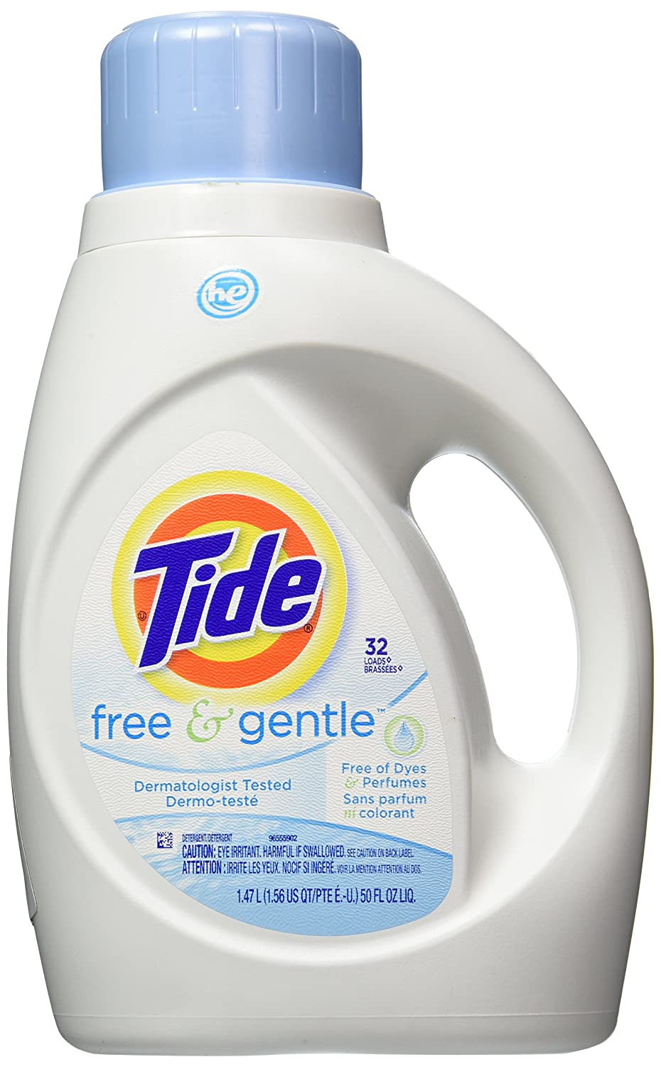Amazon Com Tide Free And Gentle He Liquid Laundry Detergent 50 Fl