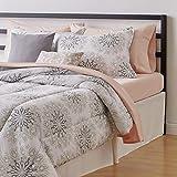 Amazon Basics 10-Piece Bed-in-a-Bag - Soft, Easy-Wash Microfiber - King, Grey Boho Medallion