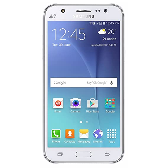 b9576116b7 Amazon.com  Samsung Galaxy J7 J700M 16GB Unlocked GSM 4G LTE Android Cell  Phone - White  Cell Phones   Accessories