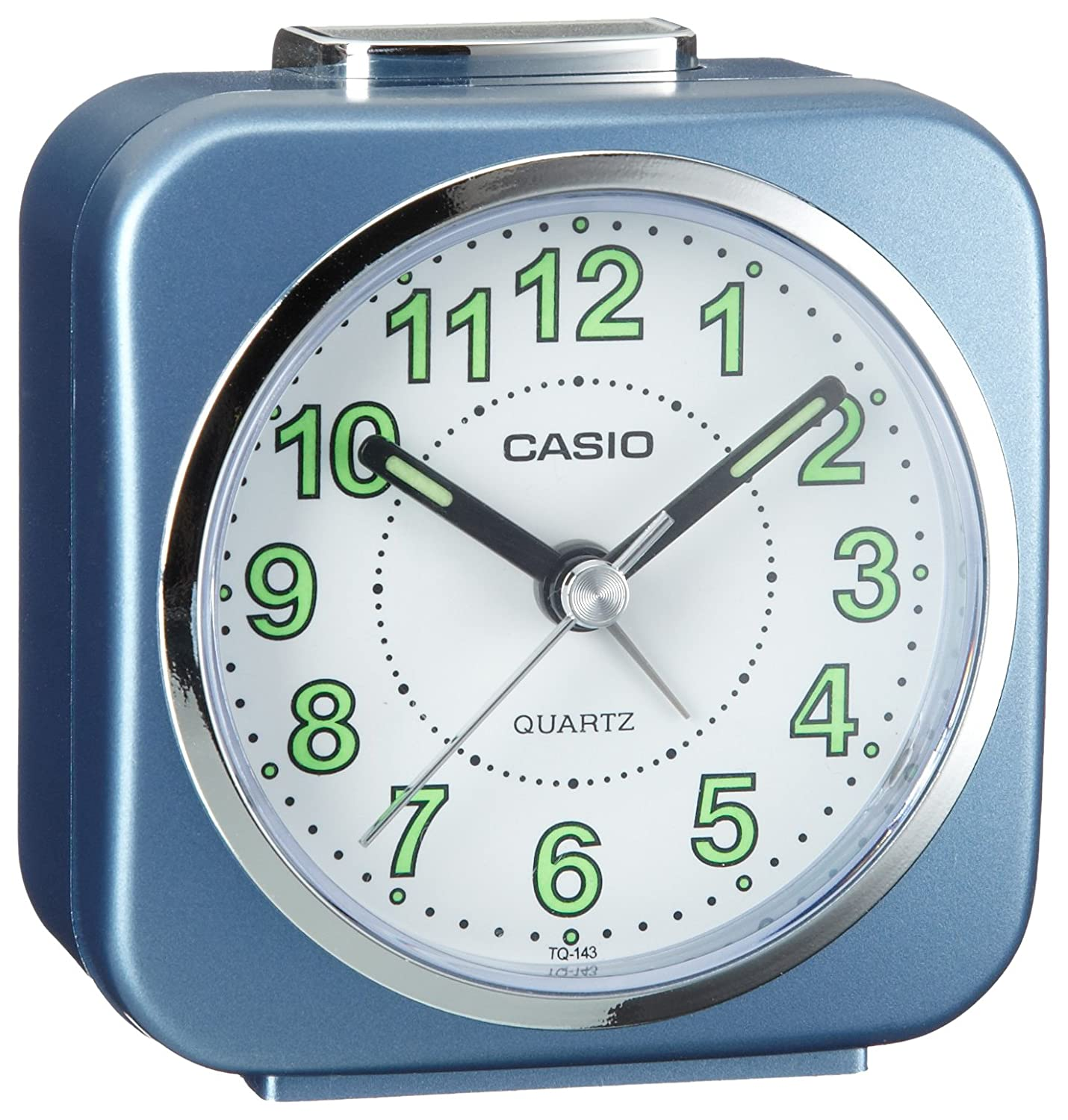 Casio tq143 2 alarm clock with light and snooze blue amazon casio tq143 2 alarm clock with light and snooze blue amazon kitchen home amipublicfo Gallery