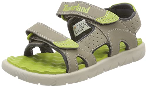 new arrival 2019 real on feet shots of Timberland Unisex Kids' Perkins Row 2-Strap Sandals