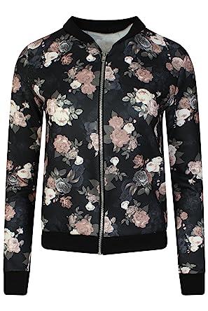 Lieblings LCL- Frauen Mädchen Blouson Damen Übergangsjacke mit Blumen Blüten #KY_91