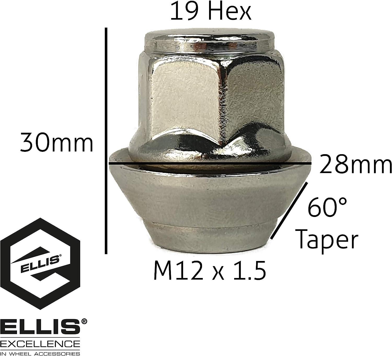 M12 X 1.5 ALLOY WHEEL LOCKING NUTS FIT FORD PROBE SCORPIO TRANSIT CONNECT
