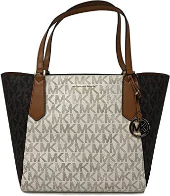Michael Kors Kimberly LG Bonded Signature Tote Bag in