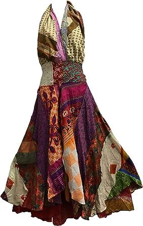 Fair Trade Halter Neck Indian Silk Sari