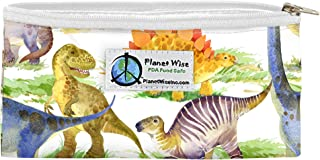 product image for Planet Wise Reusable Zipper Sandwich and Snack Bags (Dino Mite, Snack)