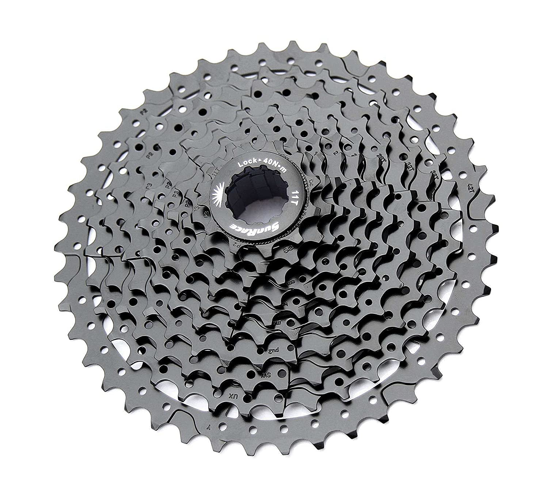Sunrace ms3 10スピードマウンテン自転車自転車カセットブラック B01JAICGX6 Black 11-40 Teeth Black 11-40 Teeth