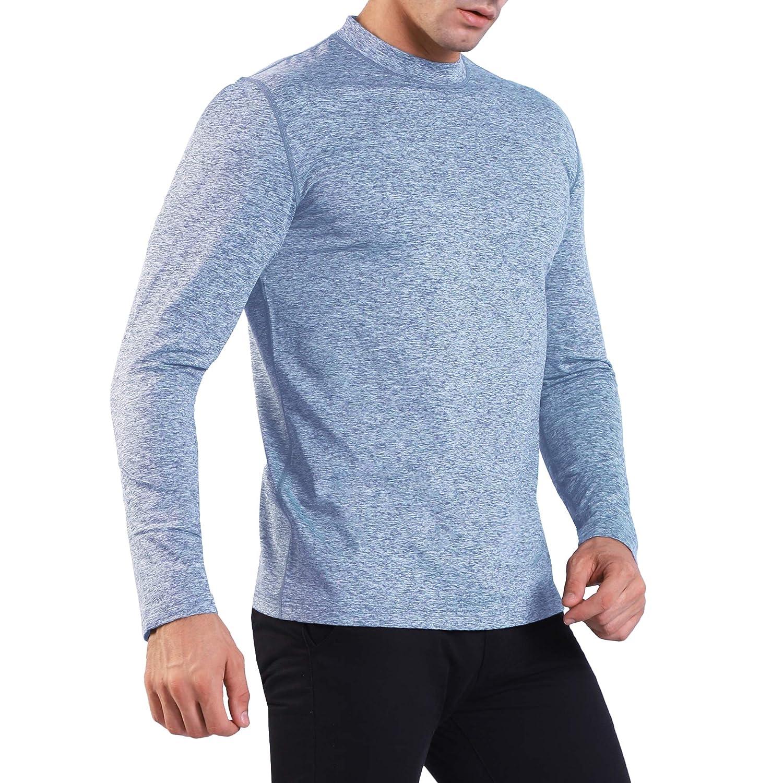 Atmungsaktive Funktionsshirt Sportshirt Fitness Shirt Ogeenier Damen Fleece Laufshirt Langarm mit Stehkragen