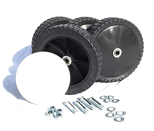 Cortacésped 4 ruedas ruedas de repuesto para cortacésped 200 mm x ...