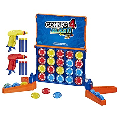Connect 4 Blast! Game; Powered by Nerf; Includes Nerf Blasters and Nerf Foam Darts; Game for Kids Ages 8 and up: Toys & Games