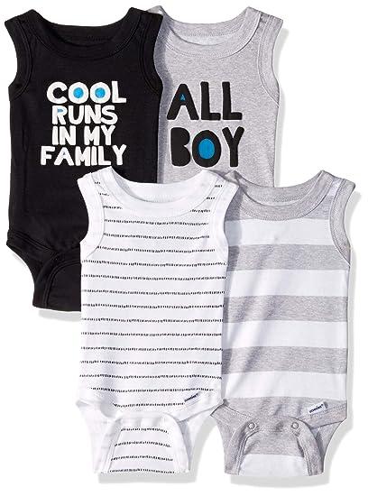 9f5c0be1a Amazon.com  Gerber Baby Boys 4-Pack Sleeveless Onesies Bodysuit ...