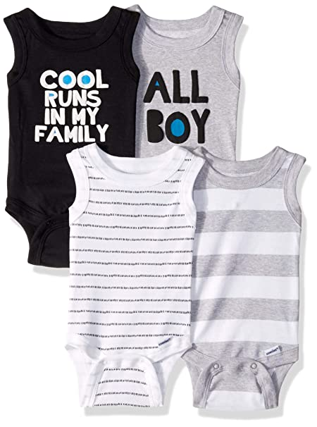 Amazon.com: Gerber - Body sin mangas para bebé (4 unidades ...