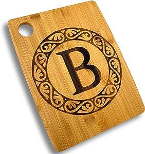 Custom Catch Personalized Cutting Board - Custom Bamboo Gift - Letter B