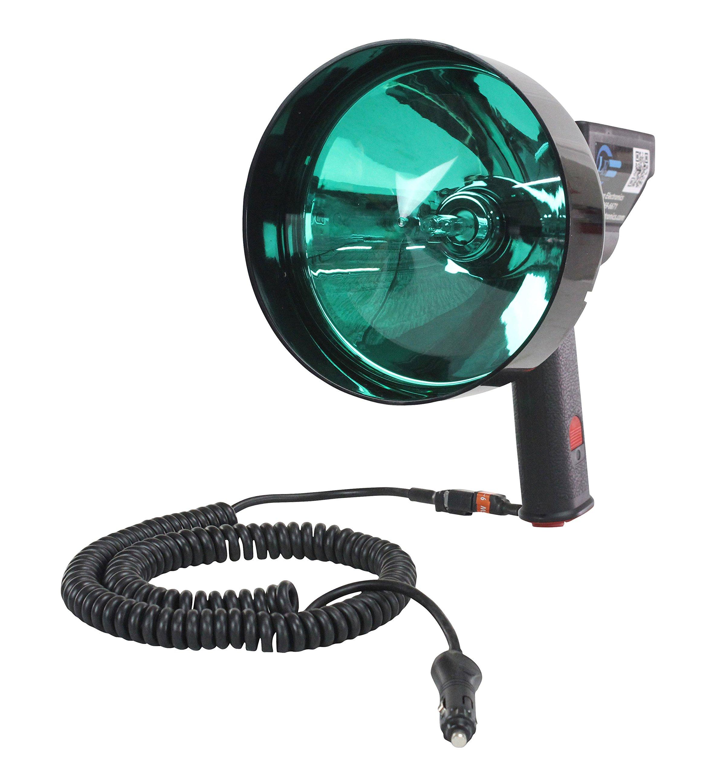 15 Million Candlepower Handheld Spotlight - Green Hunting Lens- Spot/Flood Combo - 5''/7'' Lens(-7 inch)