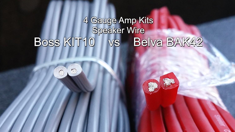 Belva Professional Grade Complete 4 Gauge 2-Channel Copper-Clad Amp Wiring Kit with 2-Channel RCA Interconnects Black BAK42BK