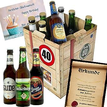 Geschenk Ideen zum 40. für Männer   Bier Geschenk + Geschenkset